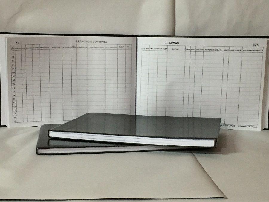 Livro Registro de Munições 100 Folhas