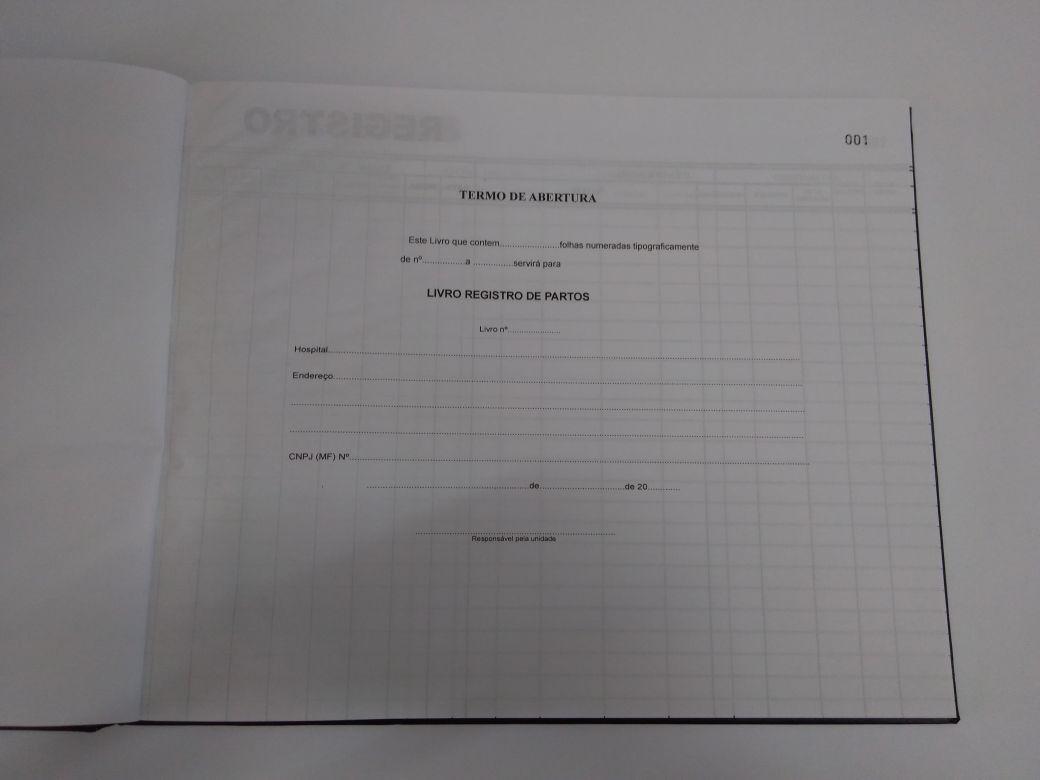 Livro Registro de Parto 200 Folhas