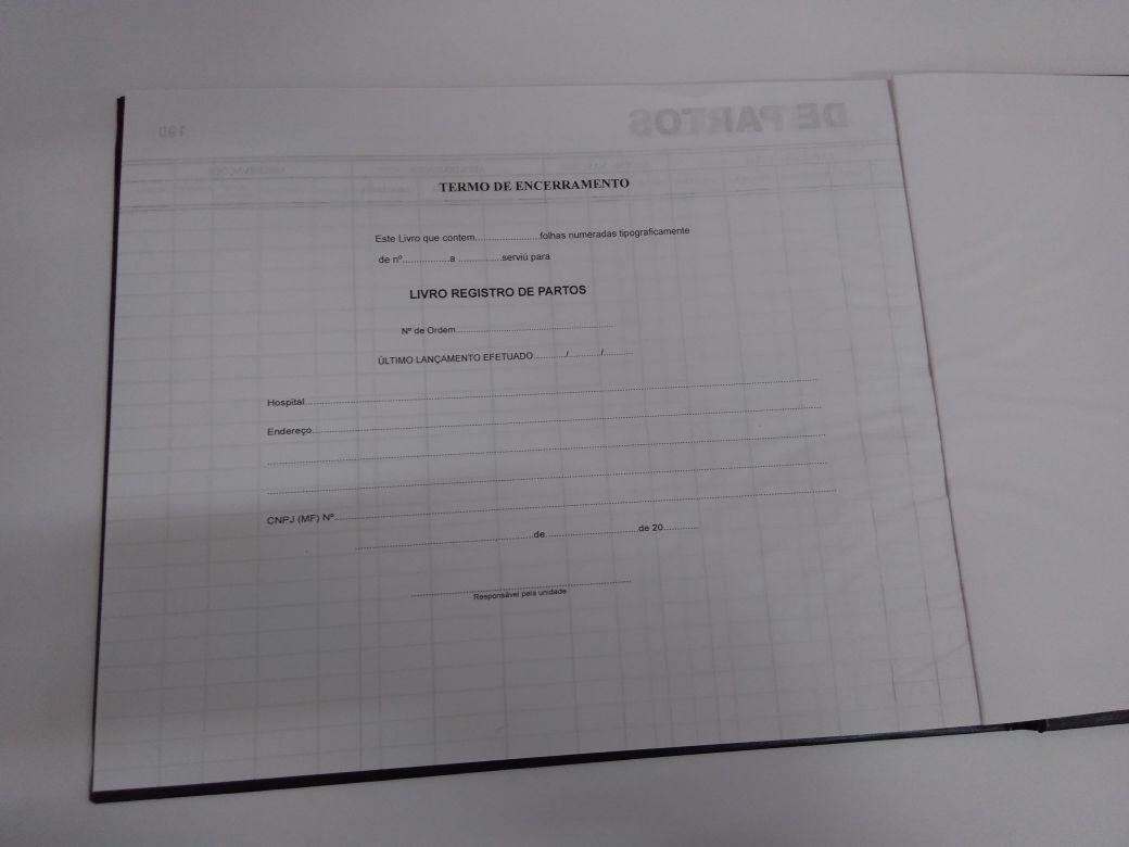 Livro Registro de Parto 200 Folhas (Papelfantasia)
