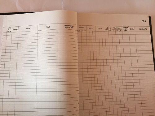 Livro Registro Tombo Biblioteca 100 Folhas