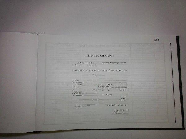 Registro de Transferência de Ações Nominativas 100 Folhas (Papelfantasia)
