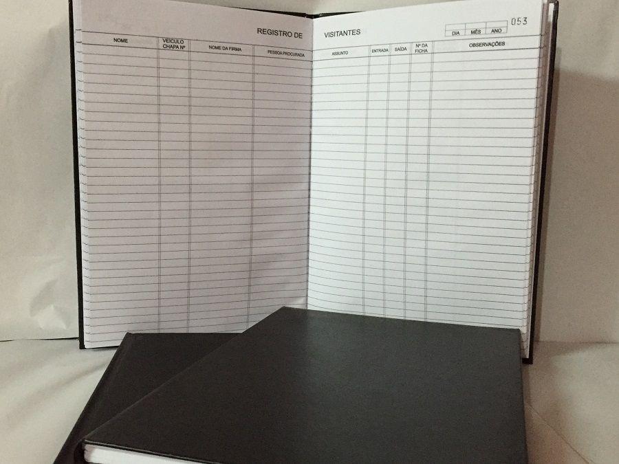 Livro Registro de Visitantes 100 Folhas