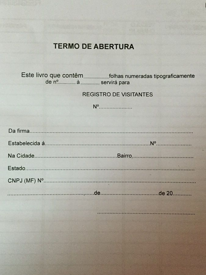Livro Registro de Visitantes 100 Folhas (Papelfantasia)