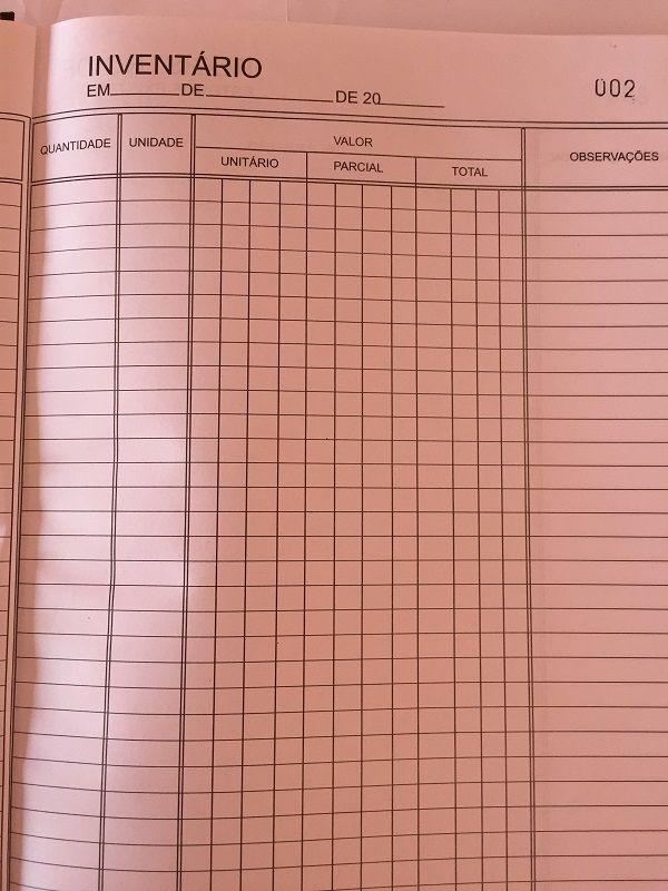 Livro Registro de Inventário de Bens Modelo 7 - 100 Folhas