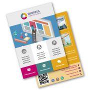 Flyer A5 | 14,8x21,0cm | Couchê 115g | Impressão Colorida Frente e Verso