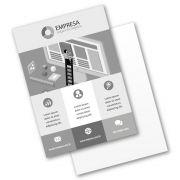 Panfleto A6 | 10,5x14,8cm | Sulfite 75g | Impressão Tons de Cinza Frente