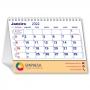 Calendário de Mesa 2022 | 14,5x19,5cm | com Folha de Rosto | Impressão Colorida Frente (Aberto) | M100