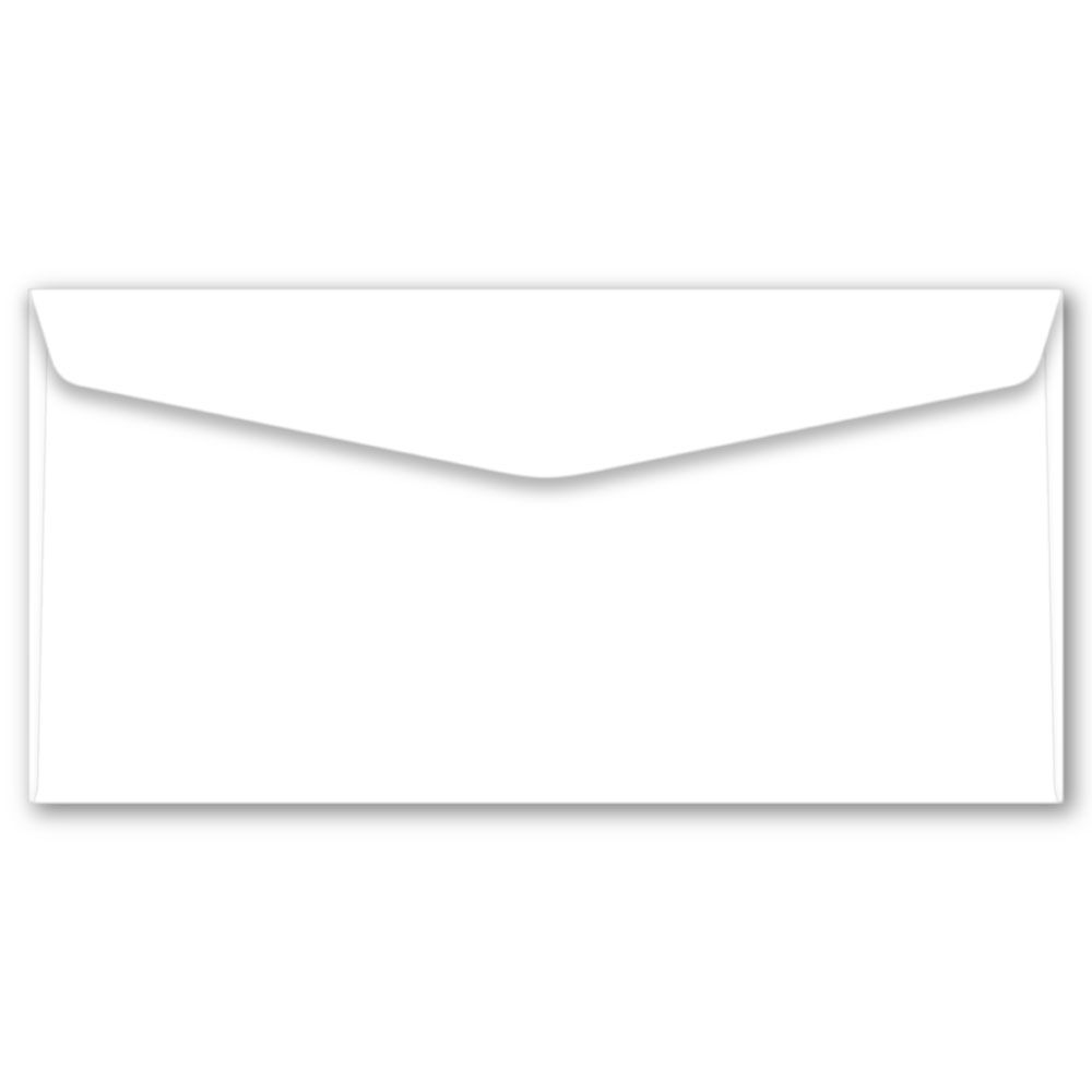 Envelope Ofício | 11,4x22,9cm | Sulfite 75g | Impressão Colorida Frente (Fechado)