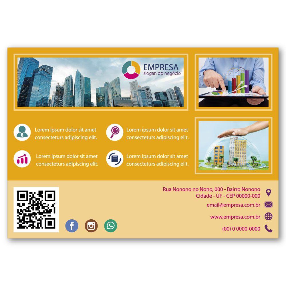Flyer A5 | 14,8x21cm | Couchê 115g | Impressão Colorida Frente e Verso