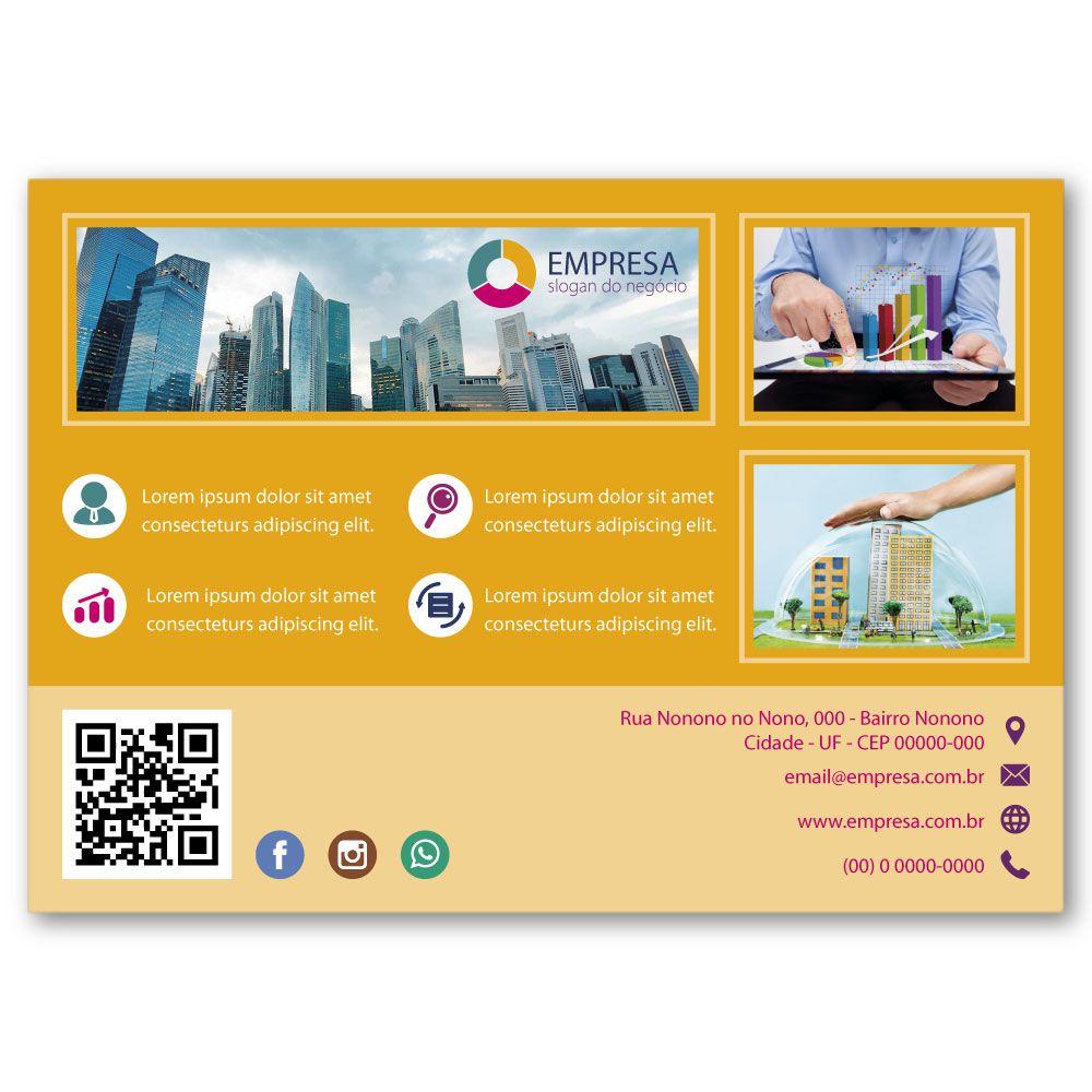 Flyer A6 | 10,5x14,8cm | Couchê 115g | Impressão Colorida Frente e Verso