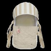 Mini Berço Para Bebê Magia E Fantasia Bege Flor