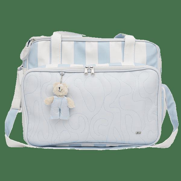 Bolsa Com Trocador Para Bebê Magia E Fantasia Azul Claro