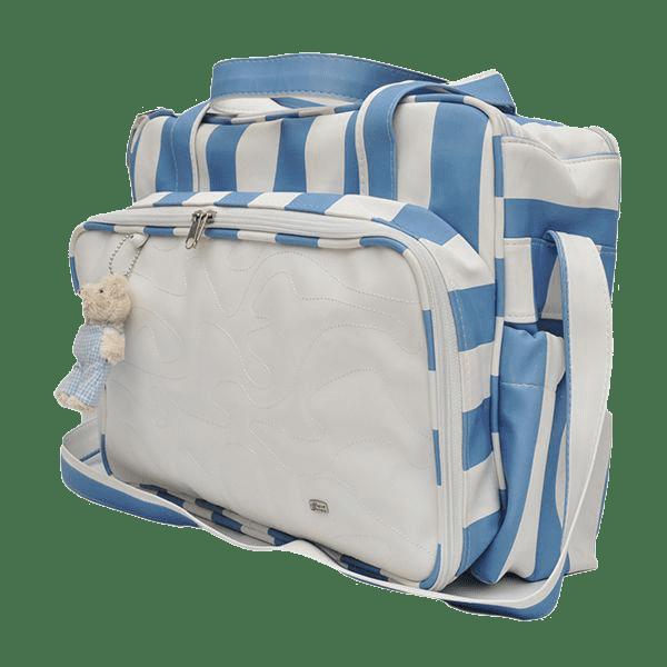 Bolsa Com Trocador Para Bebê Magia E Fantasia Azul Urso