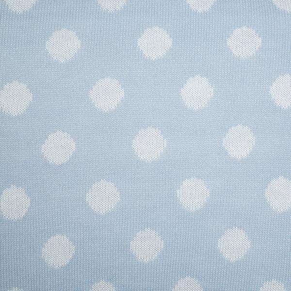 Cabeceira Tricot Magia E Fantasia Azul Bola Branca