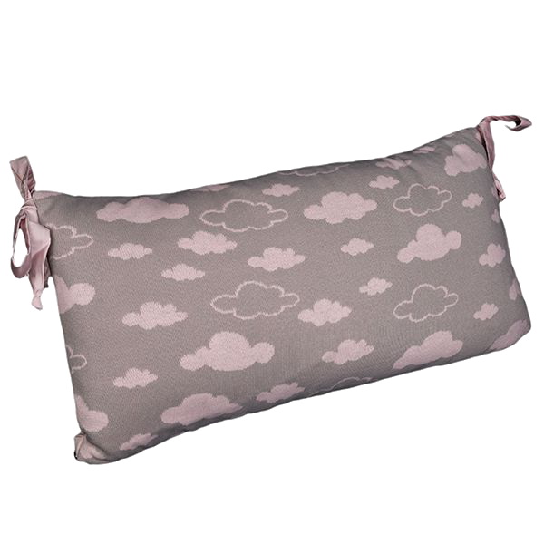 Cabeceira Tricot Magia E Fantasia Cinza Nuvem Rosa