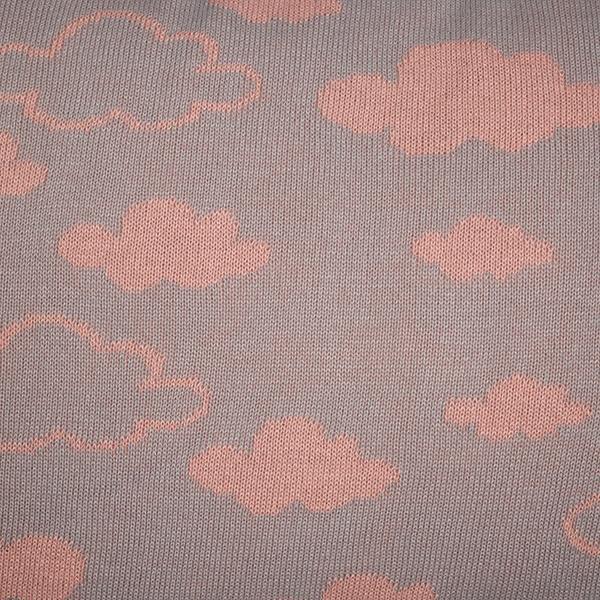 Cabeceira Tricot Magia E Fantasia Cinza Nuvem Rosê