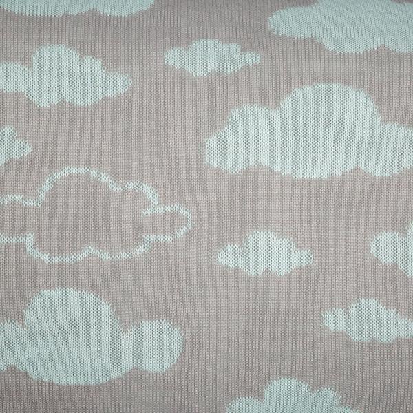 Cabeceira Tricot Magia E Fantasia Cinza Nuvem Verde Claro