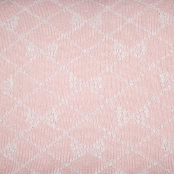 Cabeceira Tricot Magia E Fantasia Rosa Laço Branco