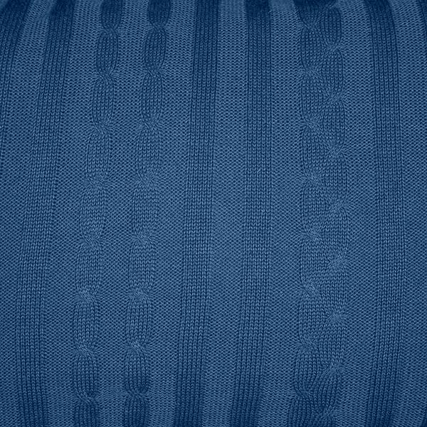 Cabeceira Tricot Magia E Fantasia Trança Azul Jeans