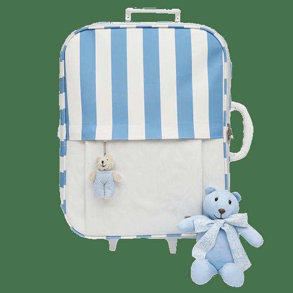 Mala Viagem Rodinha Infantil Magia E Fantasia  Azul Urso