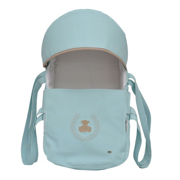 Mini Berço Para Bebê Magia E Fantasia Azul Guirlanda