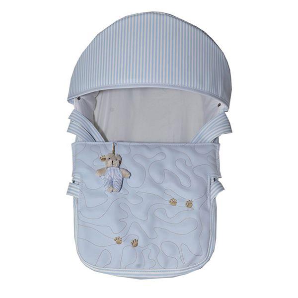Mini Berço Para Bebê Magia E Fantasia Azul Patinhas