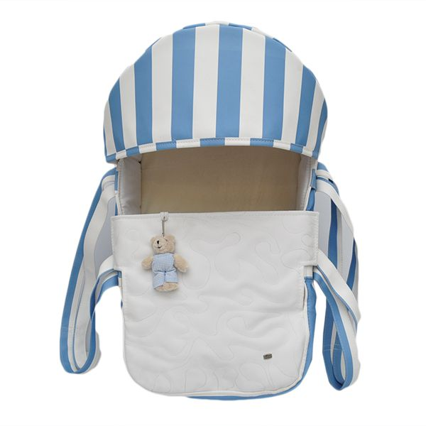 Mini Berço Para Bebê Magia E Fantasia Azul Urso