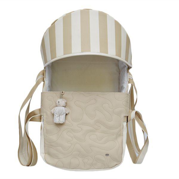 Mini Berço Para Bebê Magia E Fantasia Bege Urso
