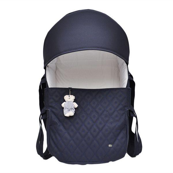 Mini Berço Para Bebê Magia E Fantasia Marinho Urso