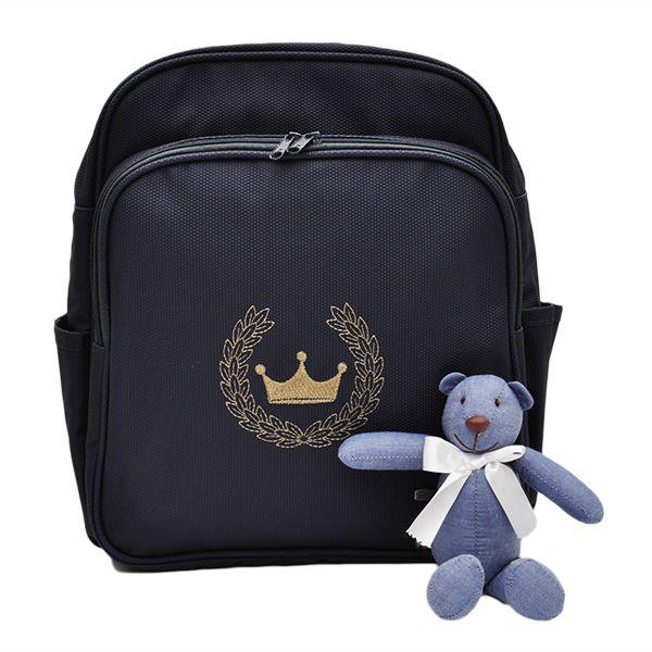 Mochila Para Bebê Magia E Fantasia Azul Marinho