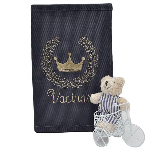 Porta Cartão Vacina Magia E Fantasia Azul Marinho
