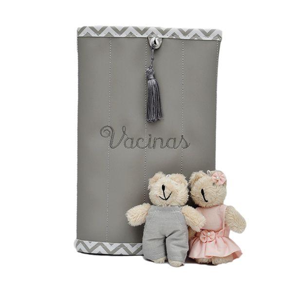 Porta Cartão Vacina Magia E Fantasia Cinza Zig Zag