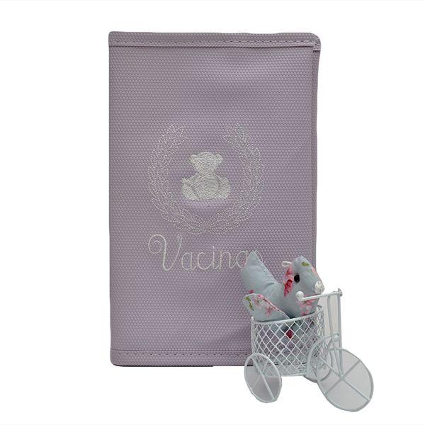 Porta Cartão Vacina Magia E Fantasia Lilas Gut Branco