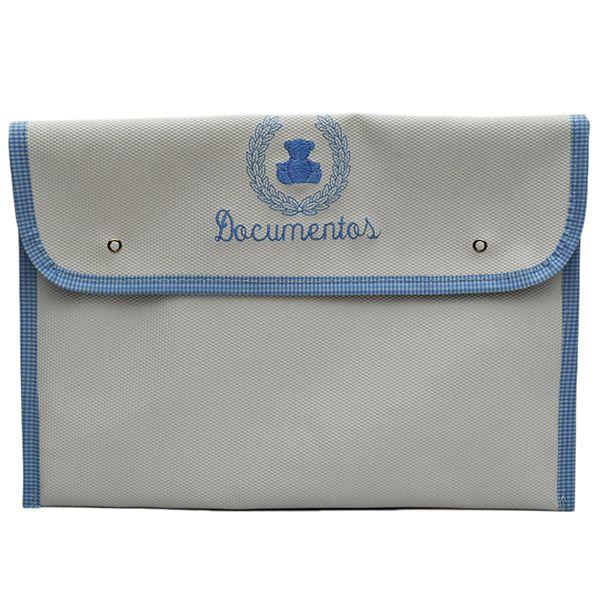 Porta Documentos De Bebê Magia E Fantasia Branco Gut Azul