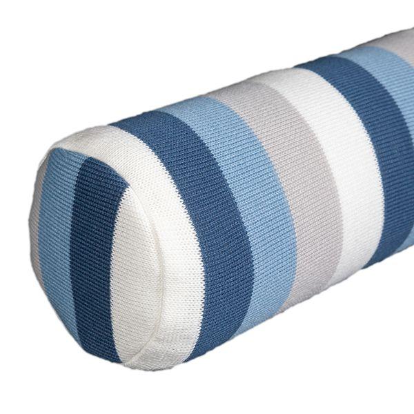 Rolo Lateral Tricot Magia E Fantasia Listrado Azul Jeans