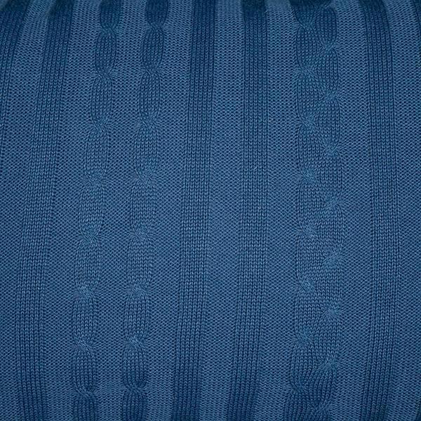 Rolo Lateral Tricot Magia E Fantasia Trança Azul Jeans