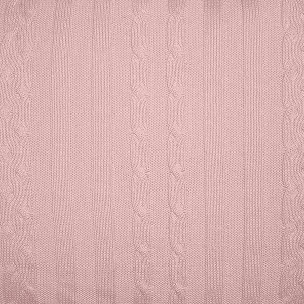 Rolo Lateral Tricot Magia E Fantasia Trança Rosa