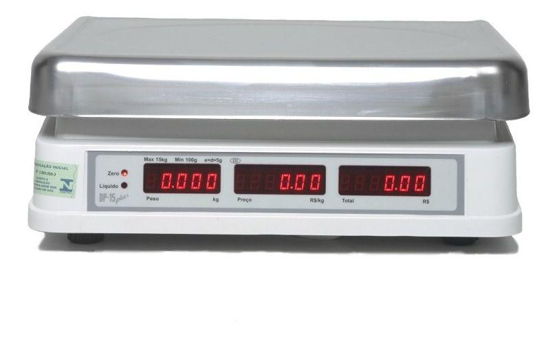 Balança Computadora Elgin DP15 Plus 15Kg c/ Bateria INMETRO