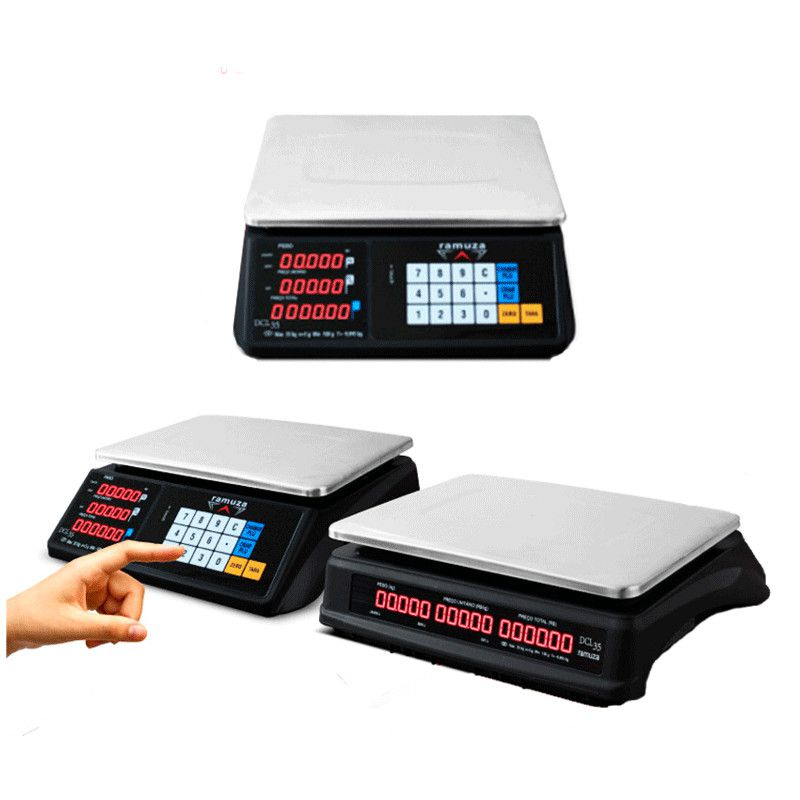 Balança Digital Comercial 35kg/5grama Ramuza Teclado Touch