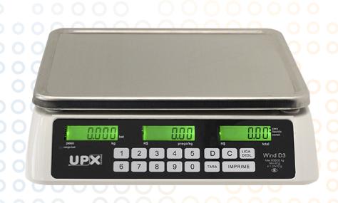 Balança eletrônica UPX Wind D3 BRANCA 32KG