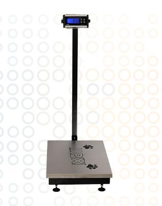 Balanças Eletrônica Blue One Pet Com Coluna 300Kg UPX