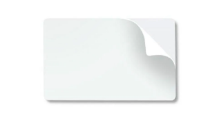 Cartão PVC Auto Adesivo - Branco - 54 MM