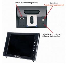 Computador Monitor 8'' LCD - GPS080N12004X7 -  PosTech