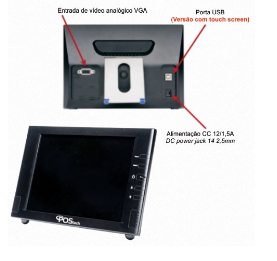 Computador Monitor 8'' Touch Sreen - GPS080N12014X5 - PosTech