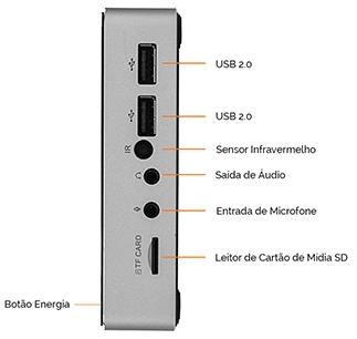 Computador Thin Client x86 - POS2000I -  Quad Core / 4GB/ SSD 60GB/ VGA/ HDMI / 4 USB PosTech