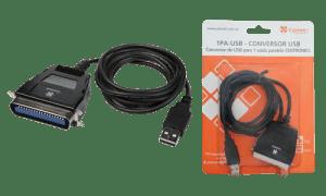 Conversor de USB para 1 saída paralela CENTRONICS - 1PA-USB