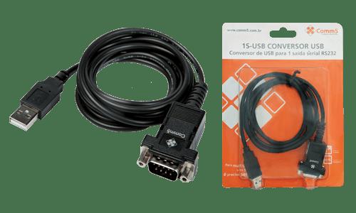 Conversor de USB para 1 saída serial RS232  -  1S-USB
