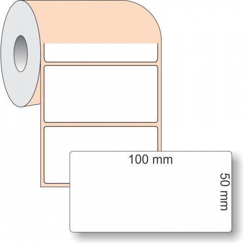 Etiqueta Adesiva BOPP, 100 x 50 mm x 1 coluna, para Impressoras Térmicas