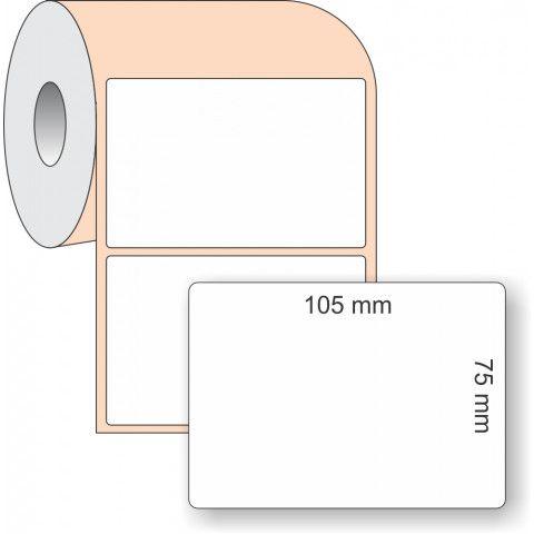 Etiqueta Adesiva BOPP, 105 x 75 mm x 1 coluna, para Impressoras Térmicas