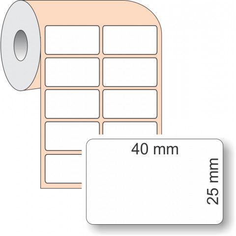 Etiqueta Adesiva BOPP, 40 x 25 mm x 2 colunas, para Impressoras Térmicas